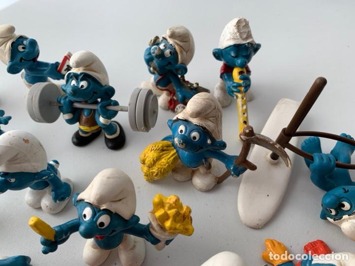 Figuras de Goma y PVC: LOTE 15 FIGURAS PVC LOS PITUFOS - SCHLEICH PEYO - ORIGINALES - Foto 5 - 222996982