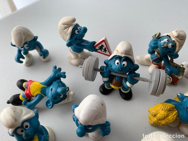 Figuras de Goma y PVC: LOTE 15 FIGURAS PVC LOS PITUFOS - SCHLEICH PEYO - ORIGINALES - Foto 6 - 222996982