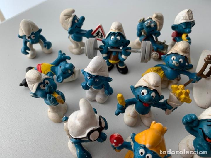 Figuras de Goma y PVC: LOTE 15 FIGURAS PVC LOS PITUFOS - SCHLEICH PEYO - ORIGINALES - Foto 7 - 222996982