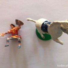 Figurines en Caoutchouc et PVC: ESTEREOPLAST CAPITAN TRUENO CON CABALLO. Lote 223334406