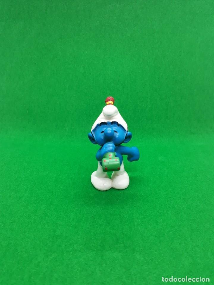 FIGURA PITUFO FIESTA CUMPLEAÑOS - PEYO SCHLEICH - 5.5 CM ALTO - AÑO 2007 - PVC (Juguetes - Figuras de Goma y Pvc - Schleich)