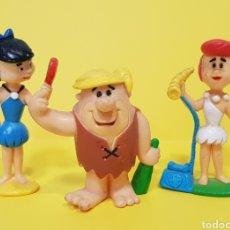Figuras de Goma y PVC: LOS PICAPIEDRA / HANNA BARBERA / PABLO MÁRMOL, VILMA PICAPIEDRA Y BETTYMÁRMOL. Lote 224245248