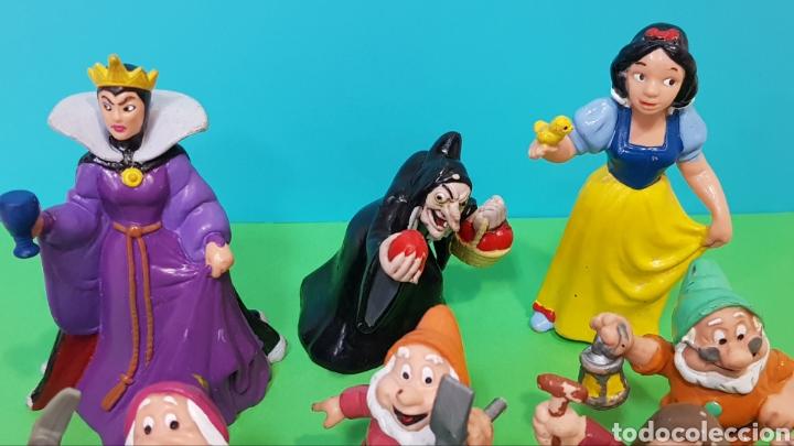 Figuras de Goma y PVC: LOTE 9 FIGURAS BLANCANIEVES Y LOS SIETE ENANITOS / DISNEY - Foto 2 - 224247448