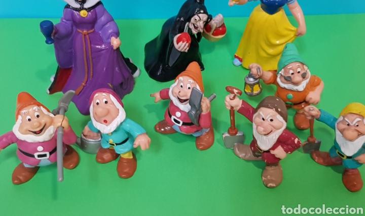 Figuras de Goma y PVC: LOTE 9 FIGURAS BLANCANIEVES Y LOS SIETE ENANITOS / DISNEY - Foto 4 - 224247448