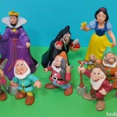 Figuras de Goma y PVC: LOTE 9 FIGURAS BLANCANIEVES Y LOS SIETE ENANITOS / DISNEY. Lote 224247448