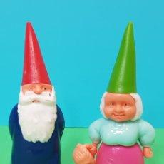 Figuras de Goma y PVC: LISA Y DAVID EL GNOMO EN PLÁSTICO DURO AÑOS 80 - UB/BRB 1987. Lote 224254897