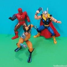 Figuras de Goma y PVC: THOR - IRON MAN - LOBEZNO / LOTE 3 FIGURAS YOLANDA. Lote 224258980