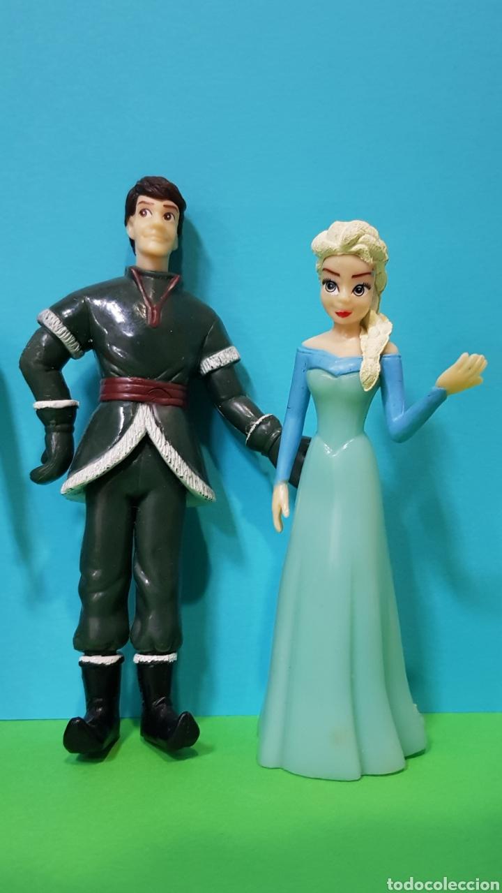 Figuras de Goma y PVC: FROZEN - Lote 5 figuras - ANNA, ELSA, Kristoff, Swen, Flynn Rider - Foto 2 - 224259225
