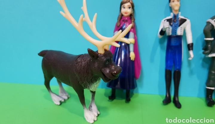 Figuras de Goma y PVC: FROZEN - Lote 5 figuras - ANNA, ELSA, Kristoff, Swen, Flynn Rider - Foto 4 - 224259225