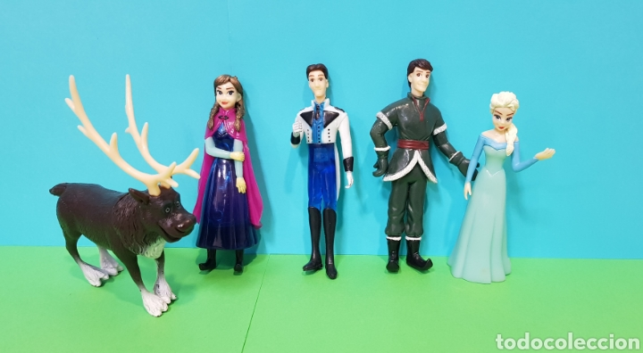 FROZEN - LOTE 5 FIGURAS - ANNA, ELSA, KRISTOFF, SWEN, FLYNN RIDER (Juguetes - Figuras de Goma y Pvc - Otras)