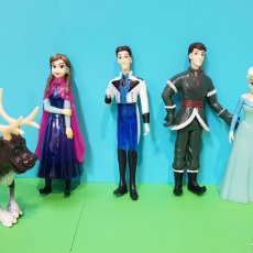Figuras de Goma y PVC: FROZEN - LOTE 5 FIGURAS - ANNA, ELSA, KRISTOFF, SWEN, FLYNN RIDER. Lote 224259225