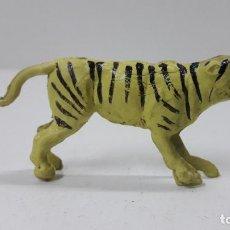 Figuras de Goma y PVC: TIGRE . REALIZADO POR GAMA . SERIE PLANA . ORIGINAL AÑOS 50 EN GOMA. Lote 224271187