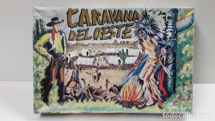 Figuras de Goma y PVC: CAJA DE INDIOS Y VAQUEROS - CARAVANA DEL OESTE . REALIZADA POR M. SOTORRES . ORIGINAL AÑOS 60 - Foto 9 - 224452793