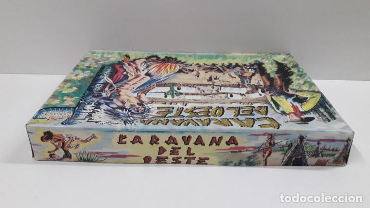 Figuras de Goma y PVC: CAJA DE INDIOS Y VAQUEROS - CARAVANA DEL OESTE . REALIZADA POR M. SOTORRES . ORIGINAL AÑOS 60 - Foto 12 - 224452793