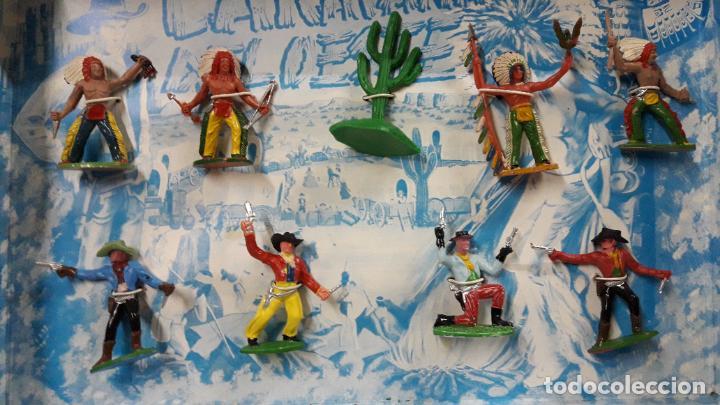 Figuras de Goma y PVC: CAJA DE INDIOS Y VAQUEROS - CARAVANA DEL OESTE . REALIZADA POR M. SOTORRES . ORIGINAL AÑOS 60 - Foto 15 - 224452793