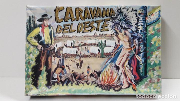 Figuras de Goma y PVC: CAJA DE INDIOS Y VAQUEROS - CARAVANA DEL OESTE . REALIZADA POR M. SOTORRES . ORIGINAL AÑOS 60 - Foto 17 - 224452793