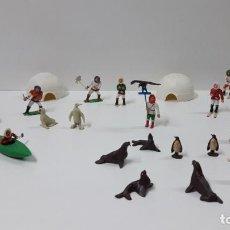 Figuras de Goma y PVC: SERIE DE ESQUIMALES - ANIMALES Y COMPLEMENTOS . REALIZADOS POR M. SOTORRES . ORIGINAL AÑOS 60. Lote 224509210