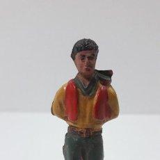 Figuras de Goma y PVC: VAQUERO - COWBOY ATADO AL POSTE . FIGURA REAMSA Nº 31 . ORIGINAL AÑOS 50 EN GOMA. Lote 224566588