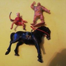 Figurines en Caoutchouc et PVC: ESTEREOPLAST IVAN GOLIAT Y CABALLO PLÁSTICO AÑOS 60. Lote 224580492