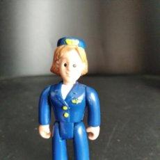 Figuras de Goma y PVC: PILOTO AVION, AZAFATA- FIGURA PVC - DESCONOZCO SERIE.. Lote 224586532