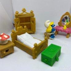 Figurines en Caoutchouc et PVC: PITUFINA - DORMITORIO - SCHLEICH. Lote 224592837