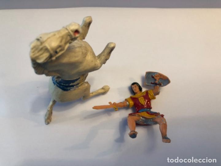 Figuras de Goma y PVC: Estereoplast Capitan Trueno con caballo original - Foto 2 - 224608066