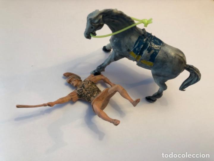 Figuras de Goma y PVC: Estereoplast Arrio romano de la serie Jabato con caballo con su pintura original - Foto 3 - 224692051