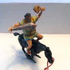Figure di Gomma e PVC: ESTEREOPLAST GOLIAT A CABALLO DE LA SERIE CAPITAN TRUENO CON PORRA SE QUITA Y PONE. Lote 224692183