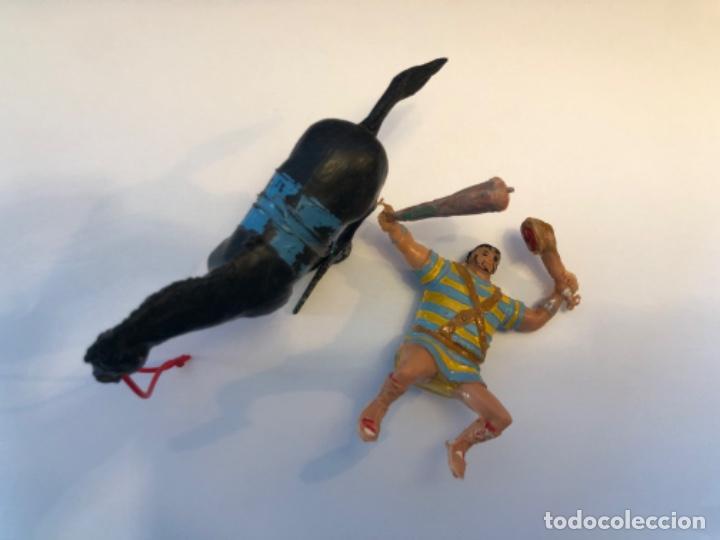 Figuras de Goma y PVC: Estereoplast Goliat a caballo de la serie Capitan Trueno con porra se quita y pone - Foto 3 - 224692183