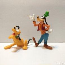 Figuras de Goma y PVC: FIGURAS ANTIGUAS DE GOOFY Y PLUTO DISNEY - BULLY - BULLYLAND- VER TODAS LAS FOTOS. Lote 224719895