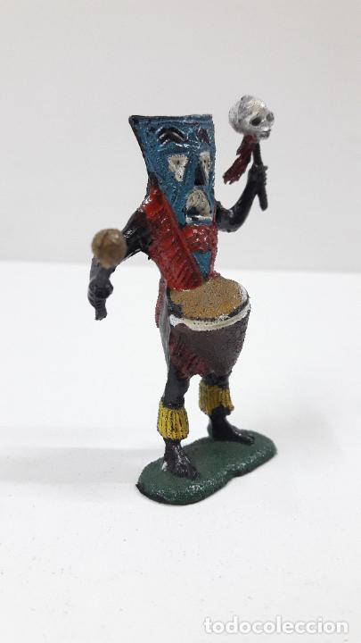 Figuras de Goma y PVC: BRUJO - HECHICERO AFRICANO NEGRO . REALIZADO POR TEIXIDO . SERIE SAFARI . ORIGINAL AÑOS 60 - Foto 4 - 224772752
