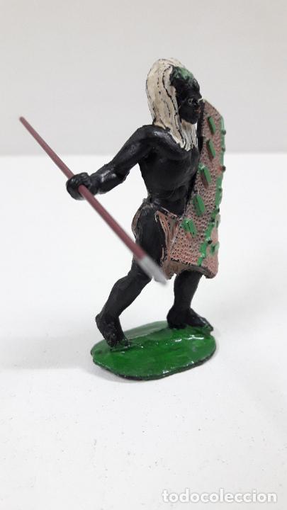 Figuras de Goma y PVC: GUERRERO AFRICANO NEGRO . REALIZADO POR ARCLA . ORIGINAL AÑOS 50 EN GOMA - Foto 5 - 224773552