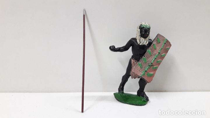 Figuras de Goma y PVC: GUERRERO AFRICANO NEGRO . REALIZADO POR ARCLA . ORIGINAL AÑOS 50 EN GOMA - Foto 6 - 224773552