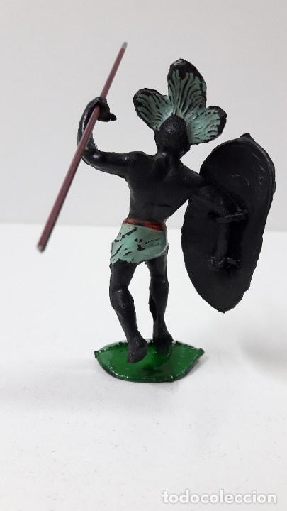 Figuras de Goma y PVC: GUERRERO AFRICANO NEGRO . REALIZADO POR ARCLA . ORIGINAL AÑOS 50 EN GOMA - Foto 2 - 224775690
