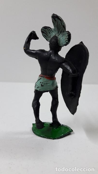 Figuras de Goma y PVC: GUERRERO AFRICANO NEGRO . REALIZADO POR ARCLA . ORIGINAL AÑOS 50 EN GOMA - Foto 6 - 224775690