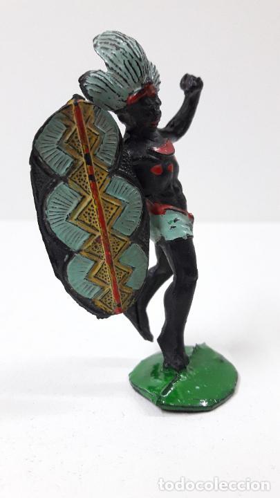 Figuras de Goma y PVC: GUERRERO AFRICANO NEGRO . REALIZADO POR ARCLA . ORIGINAL AÑOS 50 EN GOMA - Foto 8 - 224775690