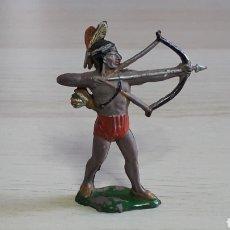 Figuras de Goma y PVC: GUERRERO INDIO CON ARCO, FABRICADO EN GOMA, AGUSTÍN TEIXIDÓ BARCELONA, ORIGINAL AÑOS 50-60.. Lote 224802315
