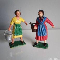 Figuras de Goma y PVC: GRANJERA, LECHERA, STARLUX FRANCE, AÑOS 60/70, COMP. CAMPESINAS DE GRANJA DE REAMSA, JECSAN Y OTROS.. Lote 224884647