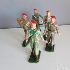 Figuras de Goma y PVC: PARACAIDISTAS, STARLUX FRANCE, AÑOS 70, COMPATIBLES CON SOLDADOS DE JECSAN, PECH Y OTROS.. Lote 224894411