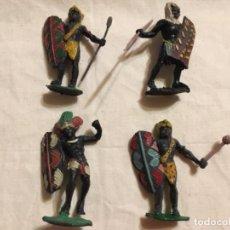 Figuras de Goma y PVC: 4 FIGURAS ARCLA NEGROS AFRICA SALVAJE 1955. Lote 67231353