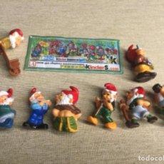 """Figuras Kinder: COLECCIÓN COMPLETA 8 FIGURITAS """" ENANOS MACETEROS - BLUMENTOPFZWERGE— FERRERO KINDER + 1 BPZ. Lote 225068913"""