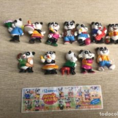 """Figuras Kinder: COLECCIÓN COMPLETA 12 FIGURITAS - """" PANDA PARTY """" — KINDER SORPRESA + 1 BPZ. Lote 225070190"""