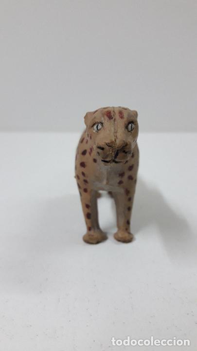 Figuras de Goma y PVC: LEOPARDO . REALIZADO POR ARCLA . ORIGINAL AÑOS 50 EN GOMA - Foto 5 - 225118127