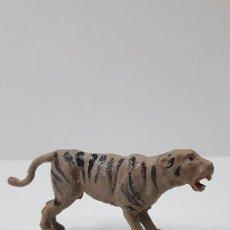 Figuras de Goma y PVC: TIGRE . REALIZADO POR GAMA . SERIE PLANA . ORIGINAL AÑOS 50 EN GOMA. Lote 225333208