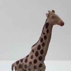 Figuras de Goma y PVC: JIRAFA . REALIZADO POR GAMA . SERIE PLANA . ORIGINAL AÑOS 50 EN GOMA. Lote 225333545