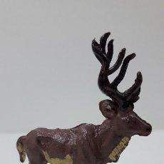 Figuras de Goma y PVC: CIERVO . REALIZADO POR GAMA . SERIE PLANA . ORIGINAL AÑOS 50 EN GOMA. Lote 225334410