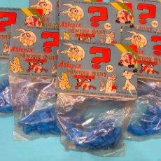 Figuras de Goma y PVC: LOTE DE 7 PAQUETE SIN ABRIR DE ASTERIX Y OBELIX CON 12 PIEZAS Y 10 PERSONAJES.. Lote 225335310
