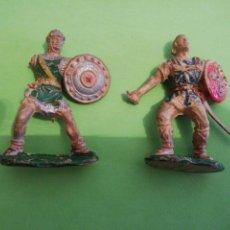 Figuras de Goma y PVC: 2 LAFREDO GOMA AÑOS 50 MEDIEVALES. Lote 225788750