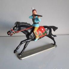 Figuras de Goma y PVC: INDIO SIOUX A CABALLO, DE LUXE DE STARLUX FRANCE, OESTE, AÑOS 60/70, COMP. REAMSA, JECSAN.... Lote 225827795