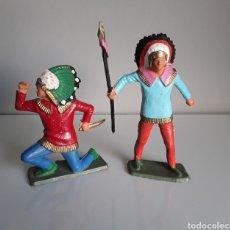 Figuras de Goma y PVC: INDIOS SIOUX, SERIE DE LUXE DE STARLUX FRANCE, AÑOS 60/70, COMP. REAMSA Y JECSAN.... Lote 225846666
